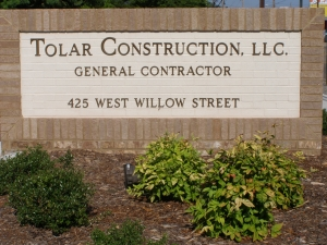 Tolar Construction, LLC. Sign